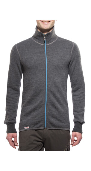 Woolpower 400 Full Zip Jacket Unisex grey/turquoise